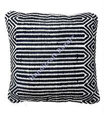 "Indian Outdoor Pillow 18"" Cotton Rug Cushion Cover Floor Handwoven Bohemian Sham"