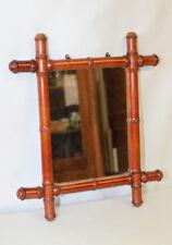 Glace / Miroir en bambou des années 30/40