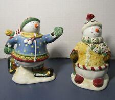 Debbie Mumm SNOW FAIRIES Sugar & Creamer Christmas Table Decor Snowman NIB