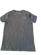 Boys UNDER ARMOUR Heatgear T-shirt U.K. Size Medium Age 8-10 Years Grey 8659