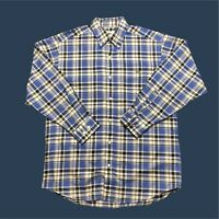 Mens Vintage Lacoste Check Shirt Large Long Sleeve