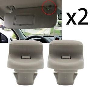 2X Car Sun Visor Retainer Clips For Nissan Micra K12 Leaf ZE0 ZE1 Note E11 E12