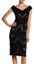 Cinq A Sept Black Lace Panel Aveline Cocktail Party Bodycon Dress SZ 0 XS