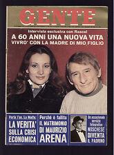 GENTE 52/1972 SYLVIE VARTAN JOHNNY HALLYDAY NAZZARO PIERO GROS NOSCHESE CHANEL