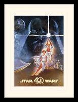 Star Wars 40th Anniversary - A New Hope Art - 30 x 40cm Framed Print - 2 options