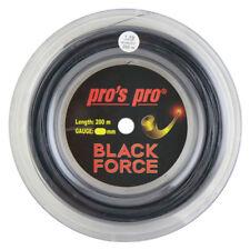 Pro's Pro Black Force Tennis Racket String - 200m (660ft) Reel - 1.19mm - Black