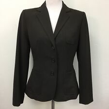 Tahari Womens Blazer Size 6 Brown Lined