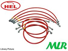 HEL PERFORMANCE VW GOLF GTI MK1 8V M12 STAINLESS STEEL BRAIDED INJECTION HOSES