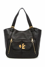 Marc by Marc Jacobs Petal To The Metal Leather Tote Black New $528.00