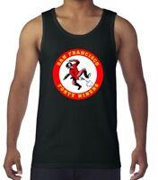 San Francisco 49ers NFL Vintage Logo Black Tank Top Shirt Size Men's Small