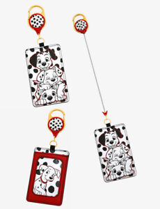 Disney 101 Dalmatians Retractable Lanyard ID Holder with Clear ID Display