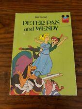 Walt Disneys Peter Pan and Wendy 1981 Random House Disney Book Hc Childrens Book