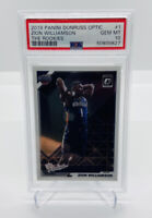 2019-20 DONRUSS OPTIC ZION WILLIAMSON THE ROOKIES #1 ROOKIE/RC PSA 10 GEM PRIZM