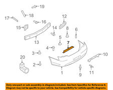 Infiniti NISSAN OEM 09-13 G37 Rear Bumper-License Plate Mount 96220JK05A