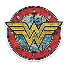 Wonder Woman Logo Scudo 3D effetto Wall Art Ritaglio Cartone