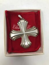 Reed & Barton 1980 Christmas Cross Sterling Silver Ornament