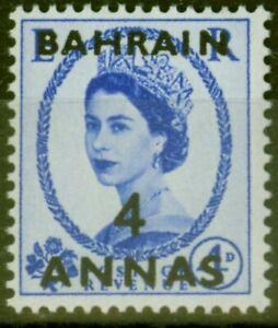 Bahrain 1953 4a on 4d Ultramarine SG86 V.F Very Lightly Mtd Mint