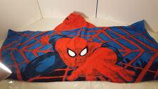"""Spider-Man Hooded Towel Poncho Bath Pool Boys Kids Marvel Superhero 48"""" x 21"""""""