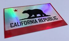 California State Flag Sticker Decal Car window 3D like reflective Republic Cali