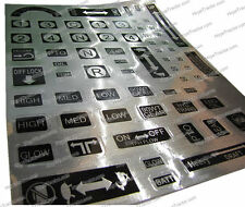 Yanmar Control Decal Sheet (50PC)