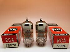 1 Pair RCA 6BQ7A tubes.  Black Plates, Halo getter, same date codes. Test Strong