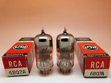 1 Pair RCA 6BQ7A tubes.  Black Plates, Halo getter, same date codes. Test Strong