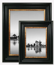Vintage Style Black Gold Photo Picture Frame Poster Wide Large Wall Mounted UK
