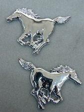 2 piezas cromo 3d coche pegatinas Mustang caballo semental bronco cromada sticker