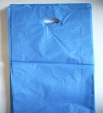 250 Plastic Die Cut Gift Fashion Carry Shopping Bags - Large Black 500x350 100mm
