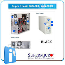 Supermicro 733i-300b 300W PSU Black - Tower Server chassis Cse-733i-300b