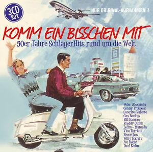 CD 50er Jahre Schlager Hits  Komm ein bisschen mit  Urlaubs und Reisewellen 3CDs