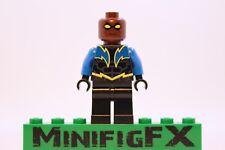 Lego BLACK LIGHTNING Custom Minifig DC Superhero Jefferson Pierce Justice League