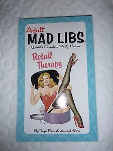 Adult Mad Libs Retail Therapy - Roger Price & Leonard Stern - Madlibs Party Game