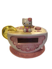 Sanrio Hello Kitty Digital Alarm Clock With Night Light Am/Fm Radio
