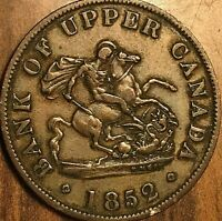 1852 UPPER CANADA ONE HALF PENNY TOKEN