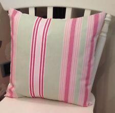 "💗Clarke and Clarke Lulu Rose Green Pink Stripe Shabby Chic 16"" Cushion Cover 💗"