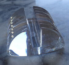 Baccarat Crystal Lalande Card/Letter Holder - Desk Accessory