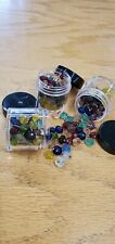 Vintage Used Glass Map Tacks 150 Count Assorted Colors Map Marking Push Pins