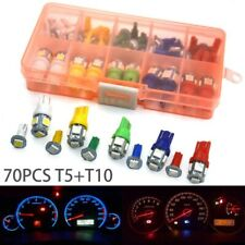 70x T5+T10 LED Car Instrument Panel Cluster Dash Indicator Light Bulbs Kits