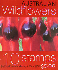 Australian Stamps: 2005 - Australian Wildflowers Booklet 10 x 50c MNH
