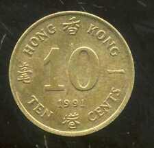 HONG KONG  10 ten cents 1991  ( bis )