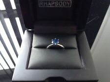 Stunning 'Rhapsody' 1ct Sapphire Solitaire set in 950 Platinum. Simply the Best.