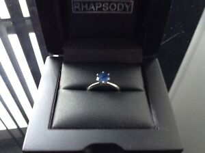 'Rhapsody' Stunning 1ct Blue Sapphire Solitaire set in 950 Platinum