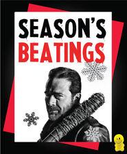 Funny Rude Christmas Card - Negan Season's BeatingsXM90