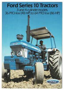 Original 1984 Ford Series 10 Tractor Range Australian Brochure - 4110 to 7711