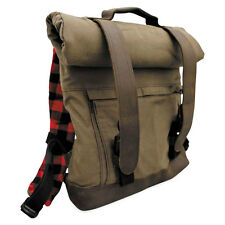 Burly Voyager Roll Top Backpack UV Treated Cotton Canvas Harley Motorcycles