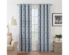Eclipse Basel Geo Energy Saving Blackout Grommet-Top Single Curtain Panel