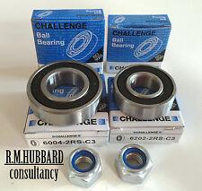 4 Challenge wheel bearings & 2 Nylok nuts for Erde 122 & similar trailers.