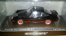 RARE PORSCHE 911 CARRERA RS 2.7 1/43 MINICHAMPS ETAT NEUF
