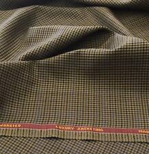 Luxury Suiting Jacketing Gun Club Brown With Blue Over Check 3.5Mts